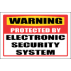 SE7 - Warning Electronic Security System Sign