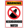 SE42 - Warning Neighborhood Watch Sign
