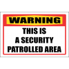 SE29 - Warning Patrolled Area Sign