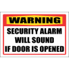 SE73 - Warning Security Alarm Sign