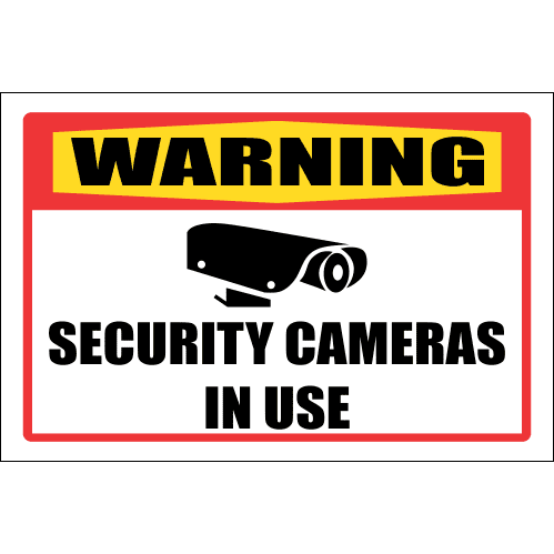 SE3 - Warning Security Cameras In Use Sign