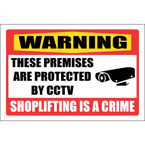 SE26 - Warning Shoplifting Is A Crime Sign