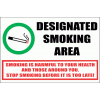 SM18 - Designated Smoking Area Sign