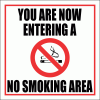 SM10 - No Smoking Area Sign