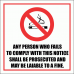SM5 - No Smoking Fine Sign