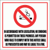SM4 - No Smoking Legislation Sign