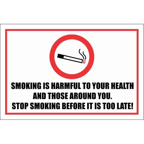 SM20 - Smoking Is Harmful Sign