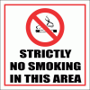 SM3 - Strictly No Smoking Sign