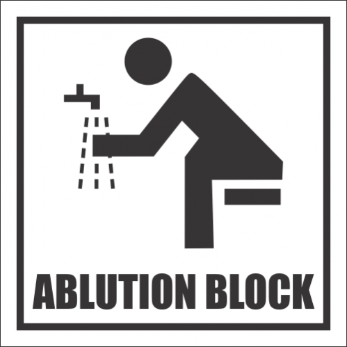 T33 - Ablution Block Sign