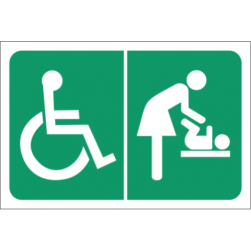 T8 - Accessible Toilet And Baby Change Room Sign