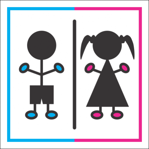 T26 - Girls And Boys Toilet Sign