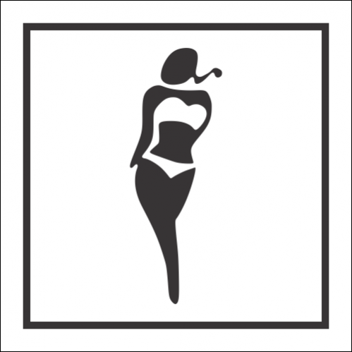 T59 - Female Swimming Pool Toilet Sign