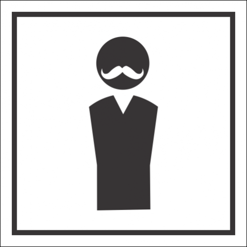 T45 - Male Classic Toilet Sign