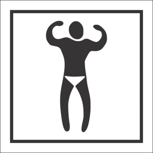 T60 - Male Swimming Pool Toilet Sign