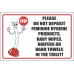 T22 - Stop Please Don't Deposit Items In Toilet Sign