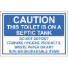 T23 - Toilet Septic Tank Sign