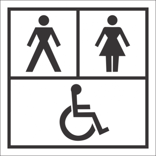 T31 - Unisex And Accessible Toilet Sign