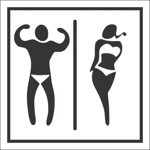 T61 - Unisex Swimming Pool Toilet Sign