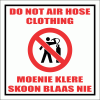WF30 - Do Not Air Hose Clothing Sign