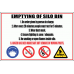 WF7 - Emptying Of Silo Bin Sign