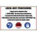 WF6 - Lock-Out Procedure Sign