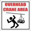 WF36 - Overhead Crane Area Sign