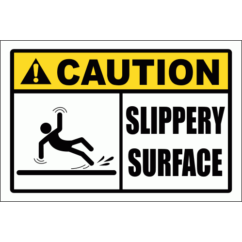WF34 - Slippery Surface Sign