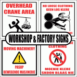Workshop and Factory Signs